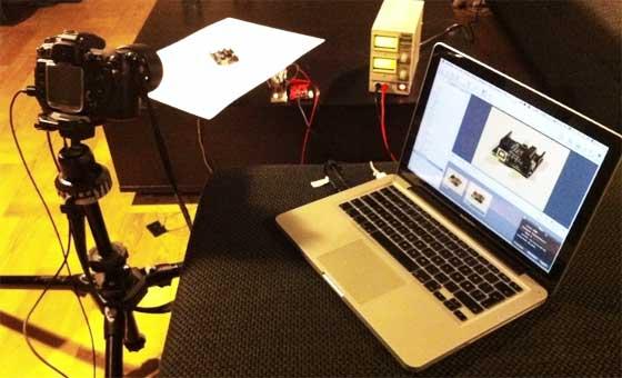 Captura de imágenes de 360 grados con Arduino