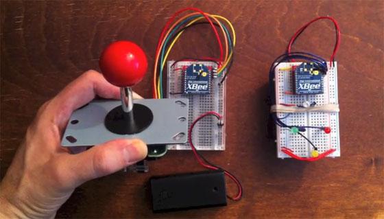 Joystick inalámbrico con XBee sin microcontrolador