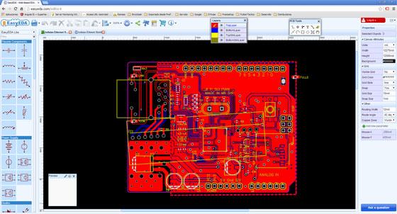 EasyEDA: Diseño de circuitos electrónicos basado en web
