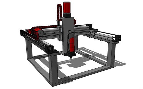 Máquina CNC casera que también imprime en 3D