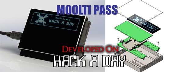 Hackaday Mooltipass: Guarda tus contraseñas