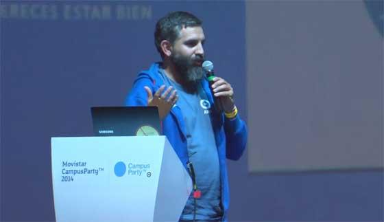 Conferencia de David Cuartielles sobre Arduino en la CPMX5