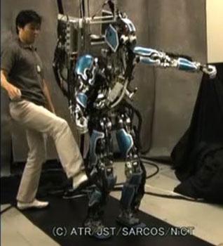 (Video) Robot bipedo con auto ajuste de equilibrio