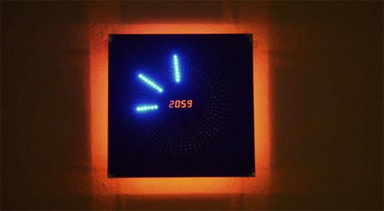 Reloj de pared casero con LEDs y Arduino MEGA