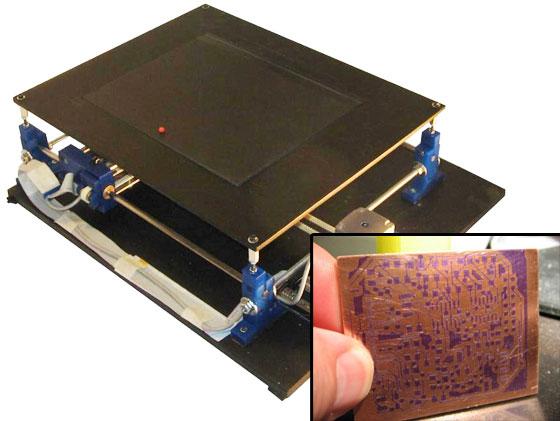 DiyouPCB: Una impresora de circuitos impresos