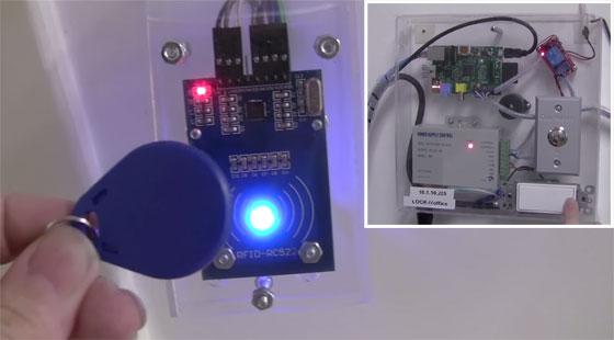 Cerradura electrónica RFID controlada con Raspberry Pi