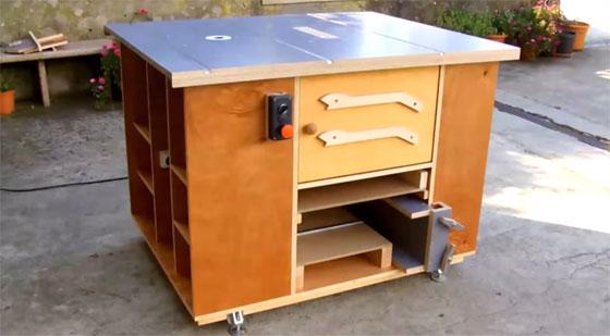 Mesa de corte casera multifunci n con fresadora for Mesa fresadora casera