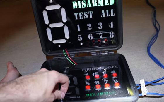 Lanzador electrónico para fuegos artificiales con Arduino