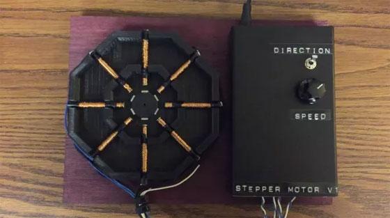 Un motor paso a paso que puedes imprimir en 3D