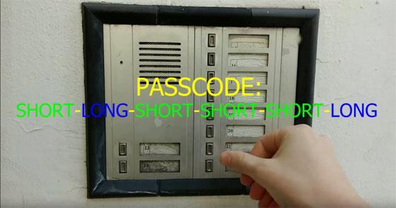Modificación de un telefonillo automático con sonidos y clave secreta