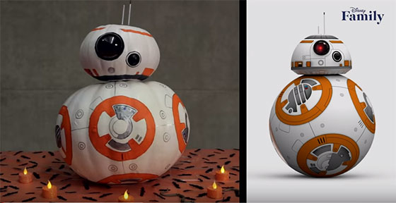 Como hacer un robot BB-8 con una calabaza