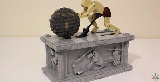 Arte cinético hecho con LEGO