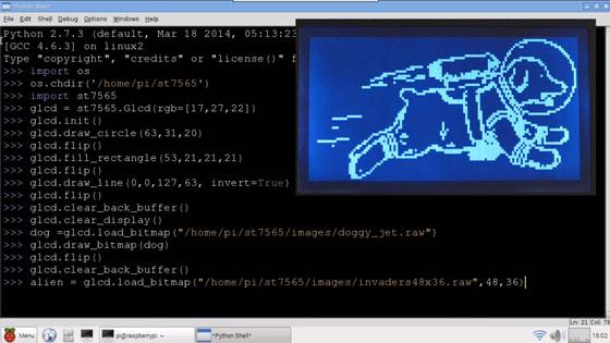 LCD gráfico con Raspberry Pi y Python