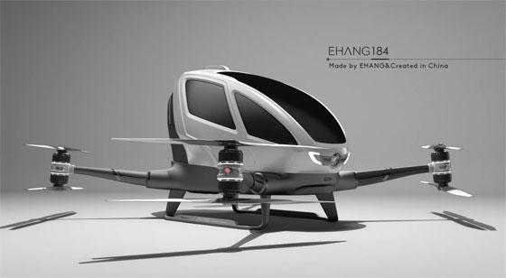EHANG184: El primer Dron que transportará personas