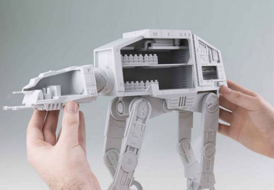 Imprime tu AT-AT de Star Wars con todo detalle
