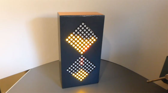 Reloj de arena digital con matrices de LED