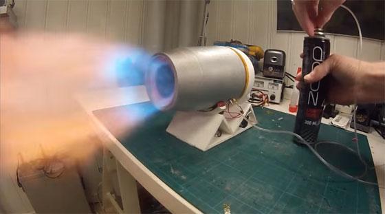 Turbina de jet impresa en 3D y que funciona