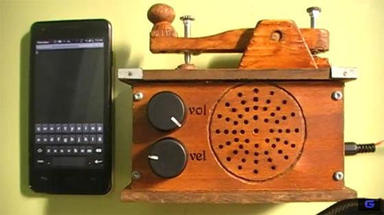Telégrafo conectado por Bluetooth a un Smartphone