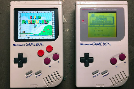 Game Boy modificada con Raspberry Pi Zero