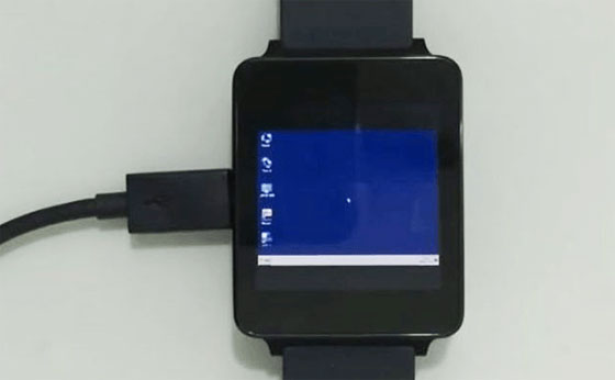 Windows 7 en un reloj smartwatch Android