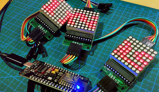 Cómo controlar matrices LED MAX7219 con ESP8266-12E