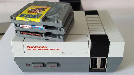 Réplica a escala de Super NES con Raspberry Pi y NFC