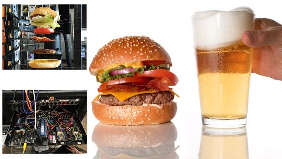 La caída perfecta de una hamburguesa con Arduino