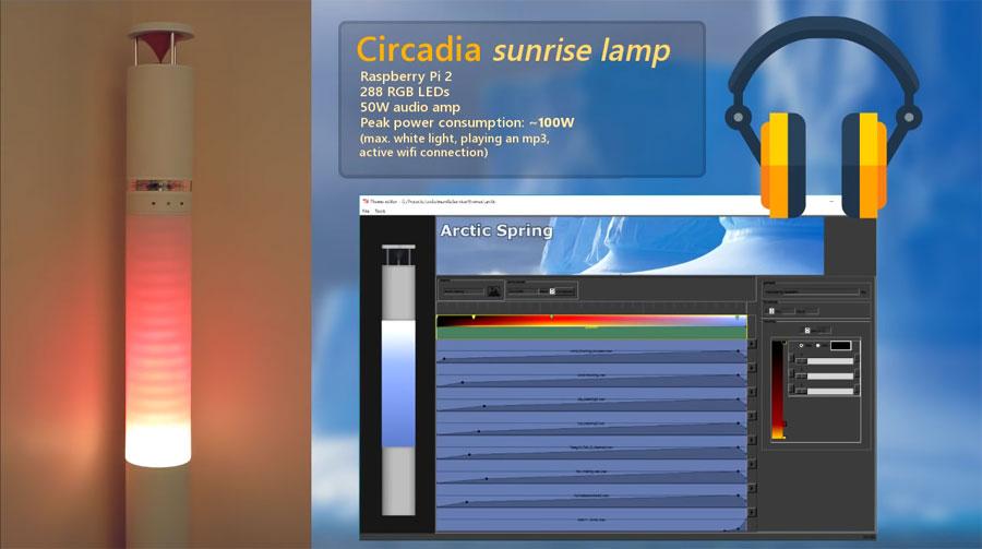 Circadia: Una lámpara que te despierta despacio, con colores y música suave