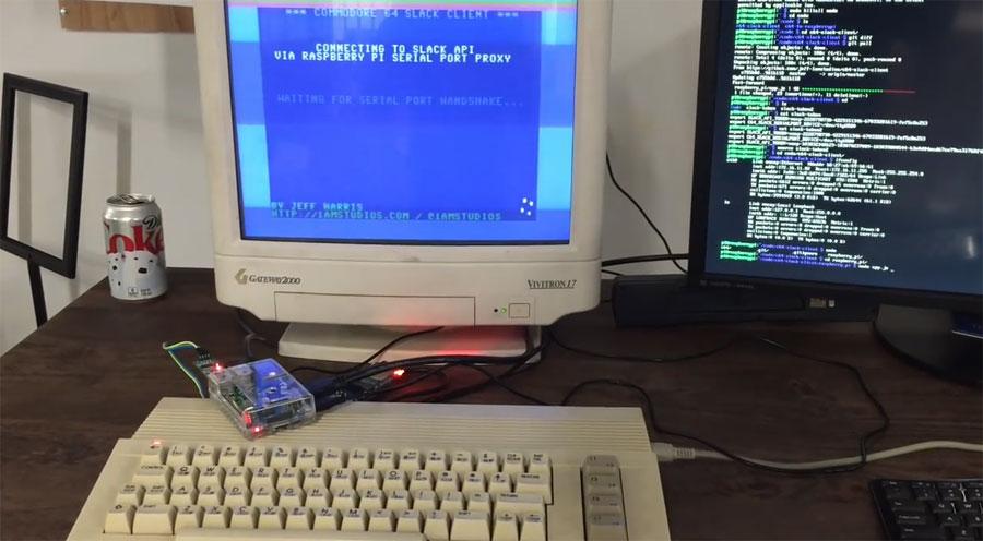 Cliente de Slack para Commodore64 con Raspberry Pi y NodeJS