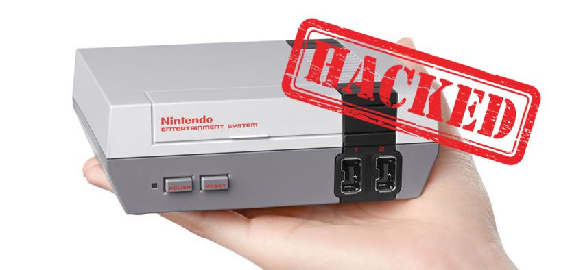 NES Mini Classic hackeada para cargar juegos por USB