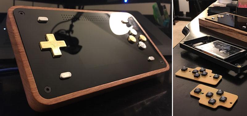 Consola portátil RetroPie con Raspberry Pi hecha con CNC y corte láser