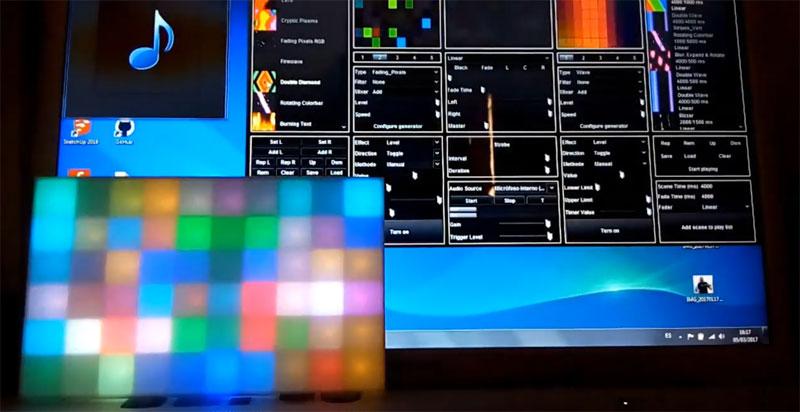 Led Pixel Box impreso en 3D y controlado con Arduino