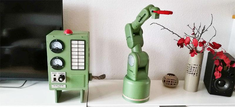 Walter: Un brazo robot Vintage