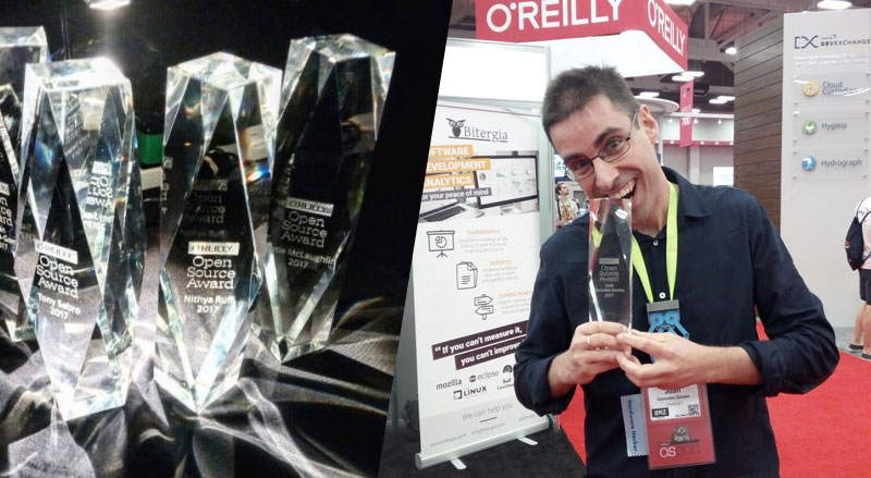 Juan Gonzalez - Obijuan - galardonado por O Reilly Open Source Award 2017