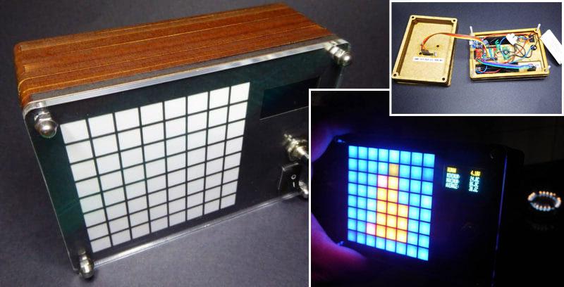 Cámara térmica casera basada en el sensor Grid-EYE AMG88