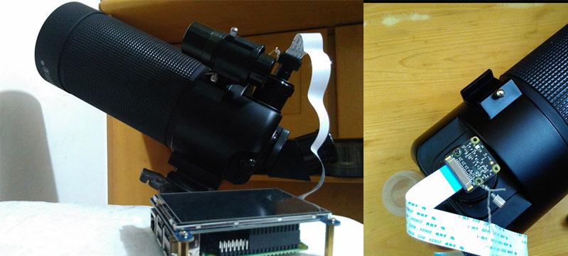 Cómo conectar la cámara de Raspberry a un telescopio