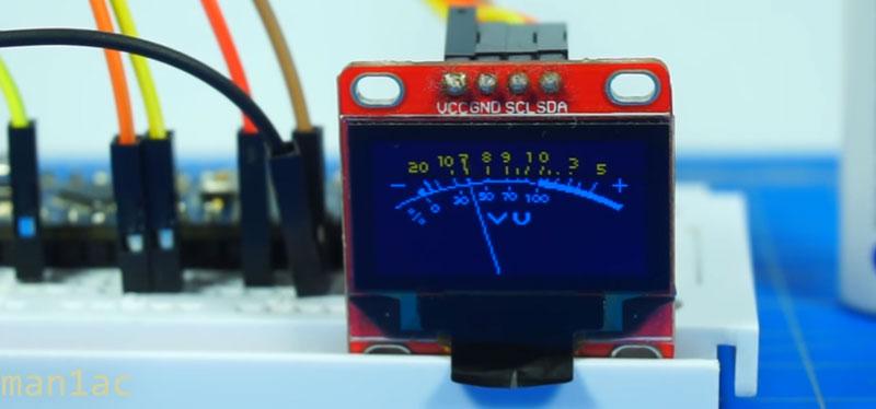Vúmetro digital con Arduino y pantalla OLED