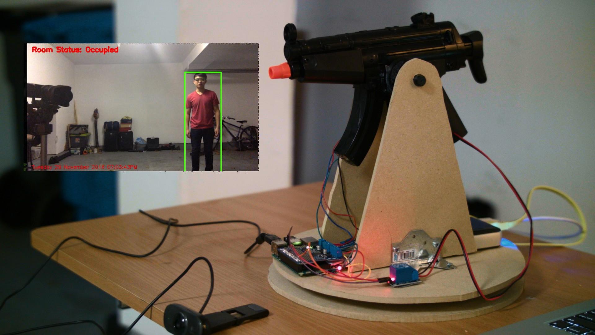 Pistola de Airsoft controlada con Raspberry Pi y OpenCV
