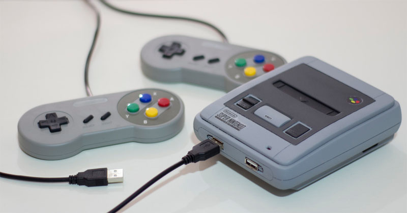 Nintendo SNES Mini casera impresa en 3D con Raspberry Pi