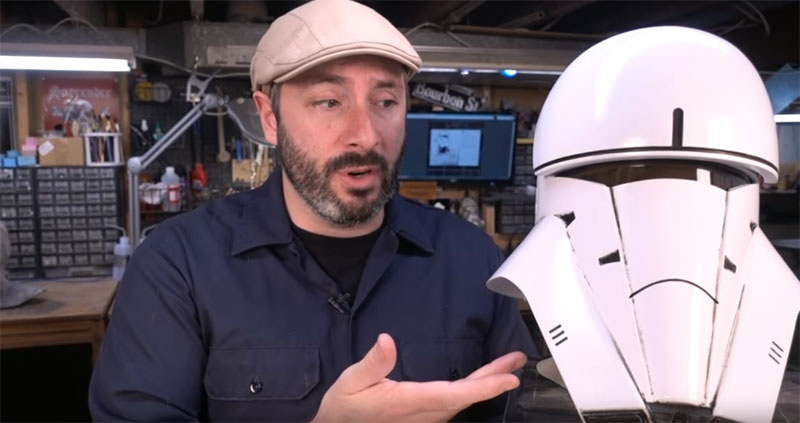 Casco de Tank Trooper de Rogue One impreso en 3D