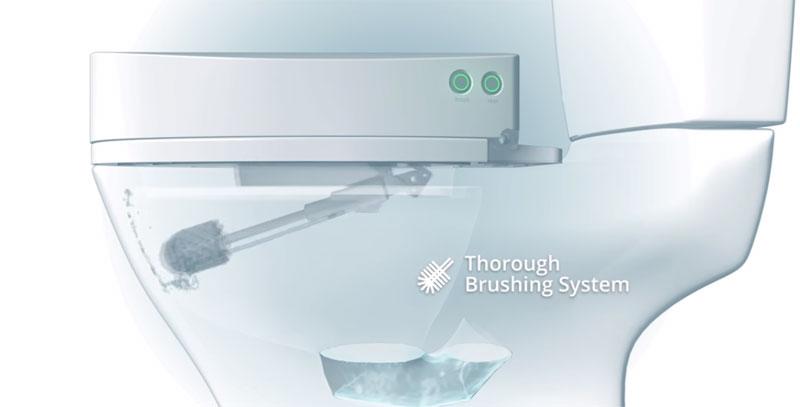 SpinX es el primer robot que limpia tu inodoro