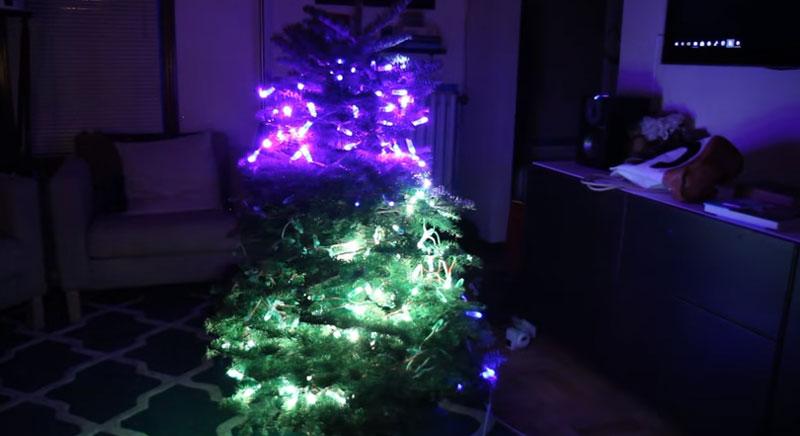 Luces RGB para Árbol de Navidad controladas con OpenCV