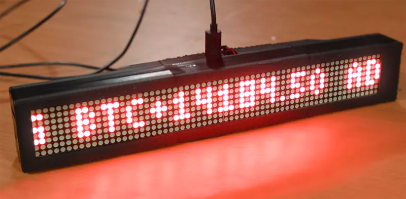 Vigila tus criptomonedas con un display LED hecho con Raspberry Pi