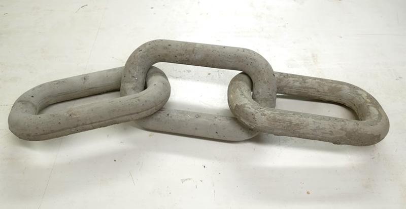 Cómo hacer una cadena con eslabones de cemento