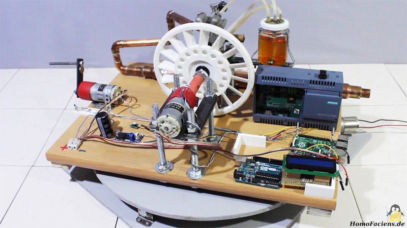 Generador de gasolina casero para alimentar una Raspberry Pi y Arduino