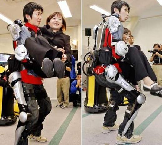 Exoesqueleto cyborg para levantar más peso