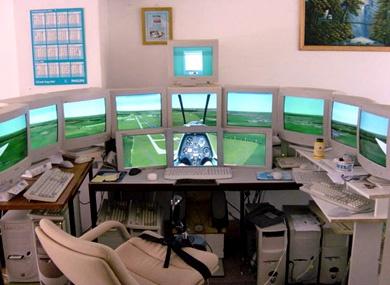 Increible cabina casera para Flight Simulator