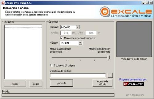 eXcale: El reescalador de imagenes reloaded