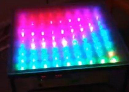 Mesa de salón RGB con ShiftBrite