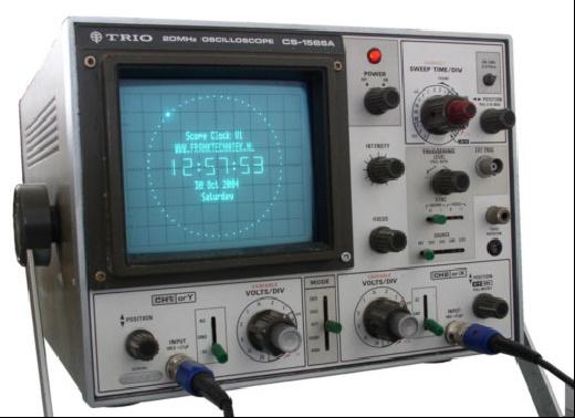 Reloj digital con un osciloscopio y ATmega8515